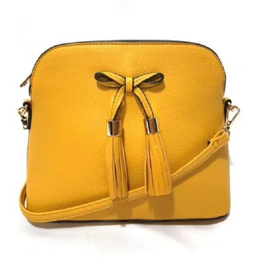 4059B (Bow Tassel Zipper Pocket Crossbody)