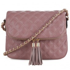 4064 (Chic Trendy Quilted Tassel Accent Crossbody)
